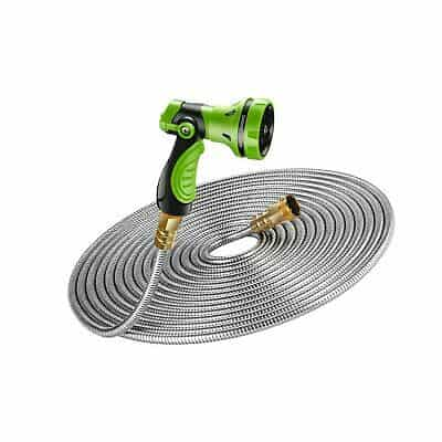 BEAULIFE New 304 Stainless Steel Metal Garden Hose with 8 Functions