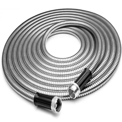 Touch-Rich 100' 304 Stainless Steel Garden Hose