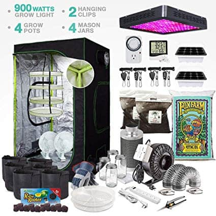 "TheBudGrower.com Complete Indoor Grow Kit with Fan, Soil, 48""x48""x80"" Hut"