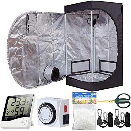 BloomGrow 24''x24''x48'' Grow Tent Indoor Grow Tent Complete Kit
