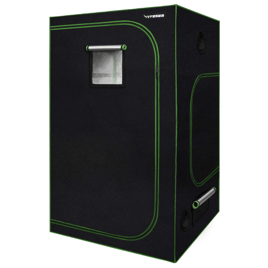 "VIVOSUN 48""x48""x80"" Mylar Hydroponic Grow Tent with Observation Window and Floor Tray"