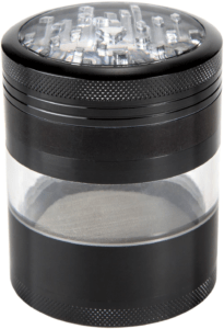 Zip Grinders ZG-00011 Four Piece with Pollen Catcher Large Herb Grinder