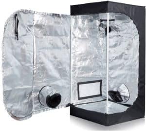 TopoLite 24x24x48 Indoor Grow Tent Hydroponic Growing Dark Room